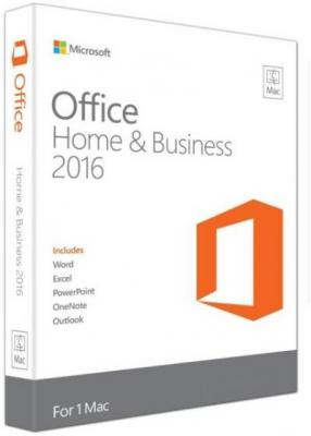 APLICATIE MICROSOFT OFFICE MAC HOME & BUSINESS 2016 ENG P2 W6F-00952