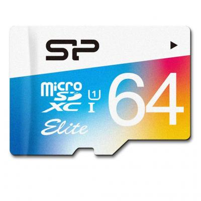 MICRO SD SILICON POWER SDXC 64GB CLASS 1 ELITE + ADAPT SP064GBSTXBU1V20SP