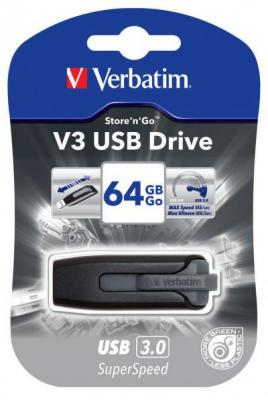 STICK USB VERBATIM 64GB USB3.0 STORE N GO V3 BLACK 49174