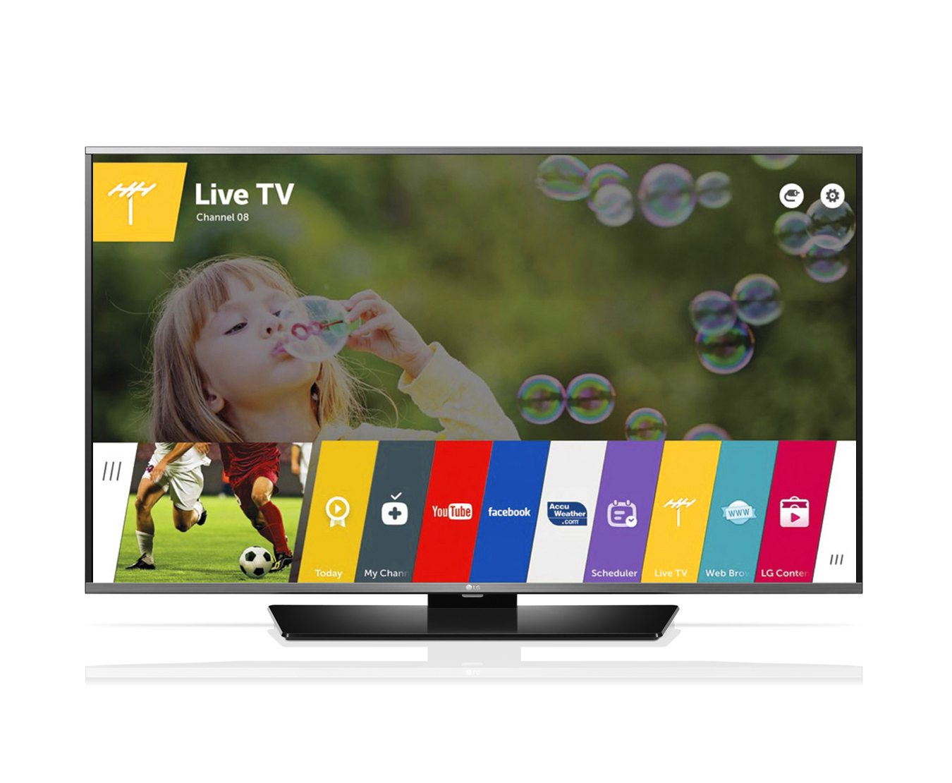 Televizor Smart LED LG 101 cm Full HD IPS 40LF630V WiFi WiDi USB CI+ Web OS Black
