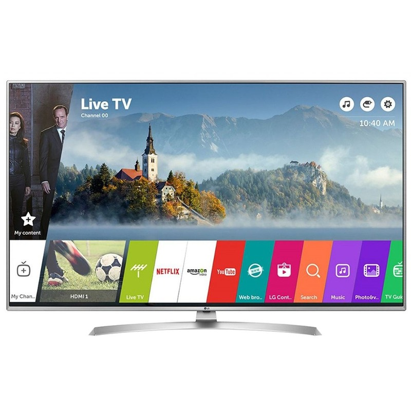 Televizor Smart Led Lg 123 Cm Ultra Hd 49uj701v Wifi Usb Ci+ Silver