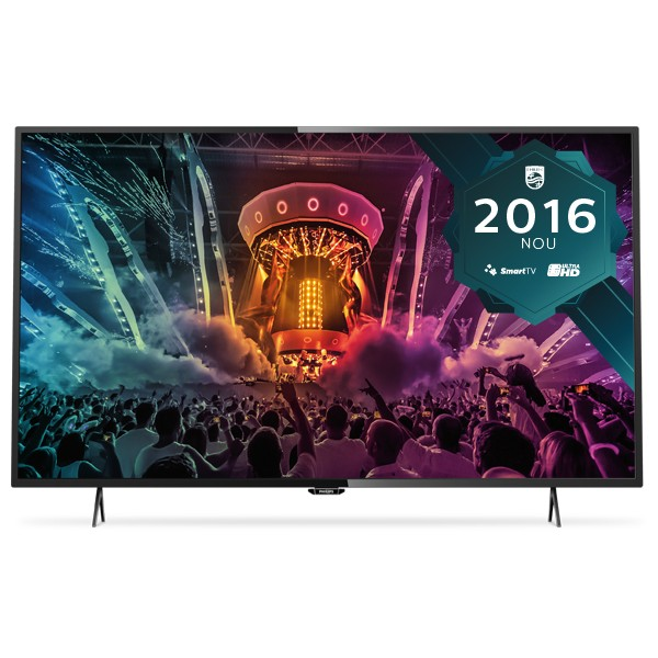 Televizor Smart LED Philips 123 cm Ultra HD/4K 49PUH6101 Dual Core WiFi USB CI+ Black