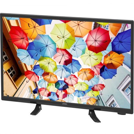 Televizor LED Utok 61 cm HD Ready U24HD2A USB Black