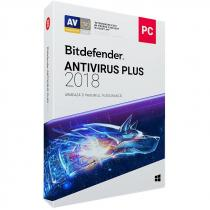 ANTIVIRUS BITDEFENDER PLUS 2018 1AN 3PC RETAIL BOX WB11011003
