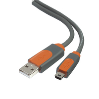 CABLU BELKIN USB-A/USB-B 0.9M MALE-MALE GREY& ORANGE