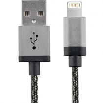 CABLU STAR USB LA LIGHTNING 1M ALUMINIUM WHITE & BLACK