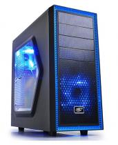 CARCASA DEEPCOOL ATX MID-TOWER 2*120MM BLUE LED BLACK TESSERACT SW