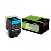CARTUS TONER CYAN RETURN NR.702XC 70C2XC0 4K ORIGINAL LEXMARK CS510DE