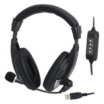 CASTI LOGILINK HS0019 ON-EAR USB BLACK