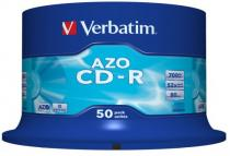CD-R VERBATIM 700MB/80MIN 52X CRYSTAL SPLINDE 50
