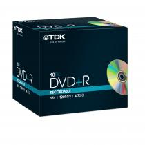 DVD+R TDK 4,7GB 16X JEWEL CASE 10 BUC