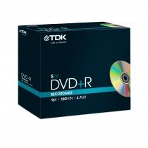 DVD+R TDK 4,7GB 16X JEWEL CASE 5 BUC