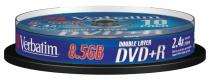 DVD+R VERBATIM 8.5GB 8X DOUBLE LAYER MATT SILVER JEWELCASE 43541