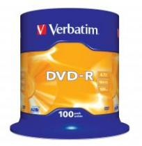DVD-R VERBATIM 4.7GB 16X SPINDLE 100 MATT SILVER SURFACE 43549