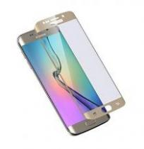 FOLIE PROTECTIE GLASS STICLA SECURIZATA GALAXY S6 EDGE GOLD GLASS256