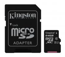 MICRO SD KINGSTON 64GB CLASA 10 SDC10G2/64GB + ADAPTOR SD