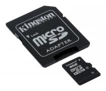 MICRO SD KINGSTON 8GB SDHC CLASS 4 + ADAPTOR SD