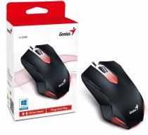 MOUSE GENIUS X-G200 ILUMINARE RED LED BLACK 31040034100