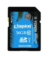SECURE DIGITAL KINGSTON 16GB CLASA 10 UHS-I SDA10/16GB