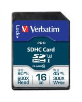 SECURE DIGITAL VERBATIM PRO SDHC U3 16GB 47020
