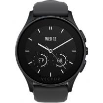SMARTWATCH VECTOR LUNA OTEL INOXIDABIL BLACK CUREA BLACK SILICON
